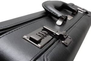 Attache case - Typically used by attornys, lawyers and accountants.