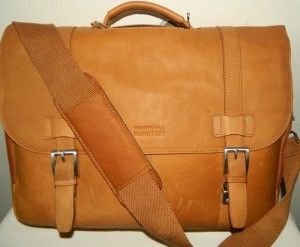 Kenneth Cole Reaction Show Business Leather Briefcase