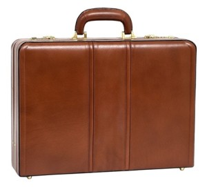mcklein usa coughlin leather attache case