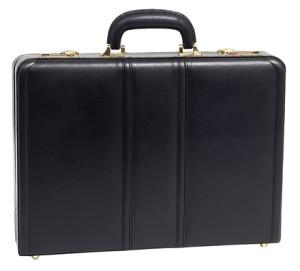 McKlein USA Daley Slim Leather Attache Case