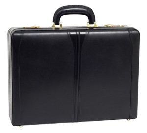 mcklein usa turner leather attache case