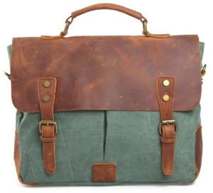 Retro Canvas Briefcase