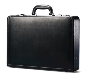 samsonite bonded leather attache case