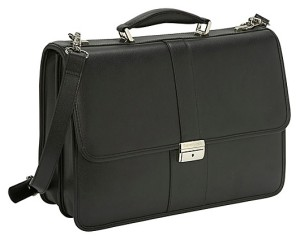 samsonite leather flapover lawyer briefcase