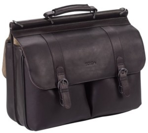 SOLO Classic Collection Colombian Leather Laptop Briefcase