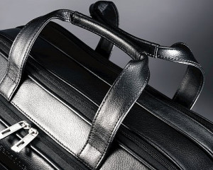 samsonite leather expandable handles