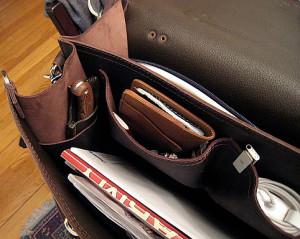 Saddleback Leather Classic Briefcase Interior