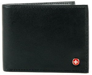 Alpine Swiss Flip-Out Tri-Fold Leather Wallet For Men