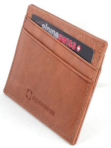 Alpine Swiss 5 Cards Slim Wallet
