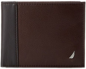 Nautica Milled Passcase Leather Wallet For Men