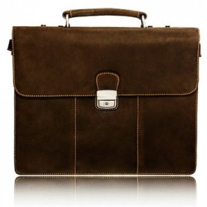 Visconti Apollo 16038 Oil Tanned Leather Briefcase