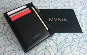 MVRIK Neat Slim Leather Front Pocket Wallet