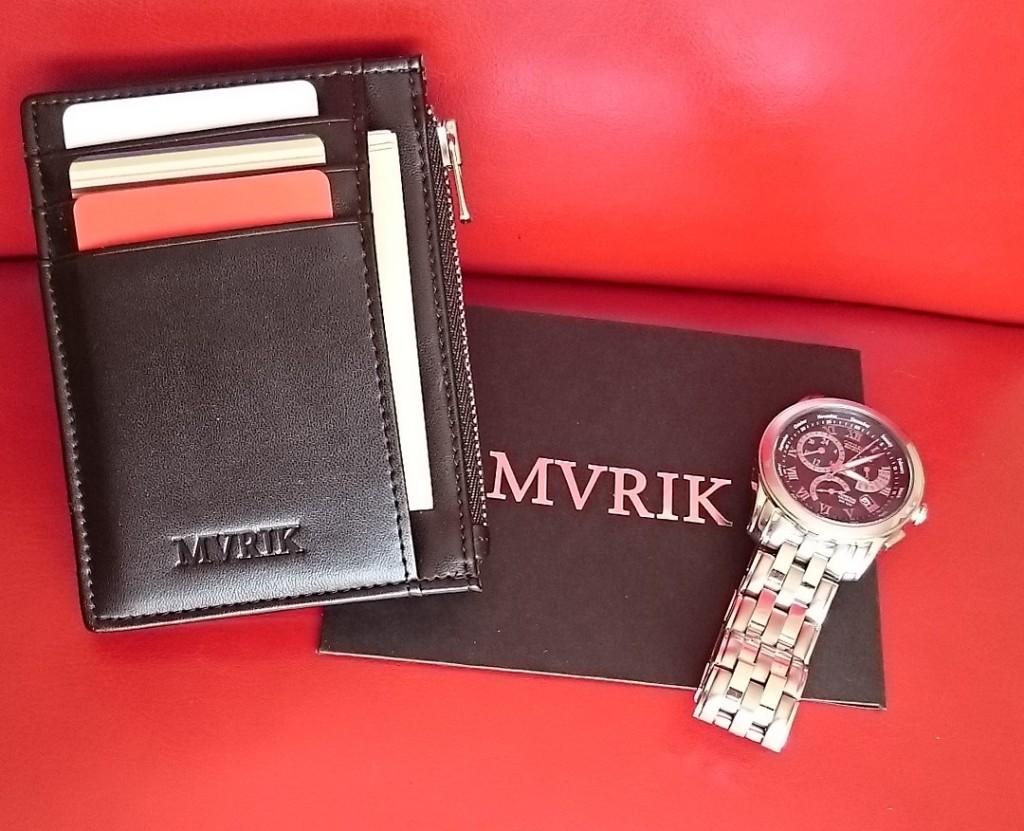 MVRIK Neat Slim Front Pocket Wallet with Citizen 8700