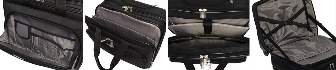 Samsonite Classic Overnighter Rolling Briefcase Compartments