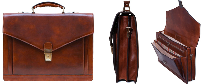 Floto Ponza Brown Leather Briefcase Review