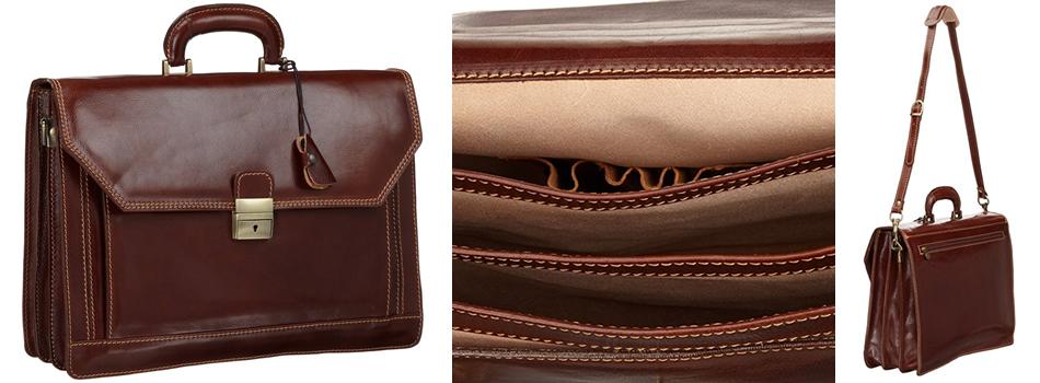 Floto Venezia Brown Leather Briefcase Review