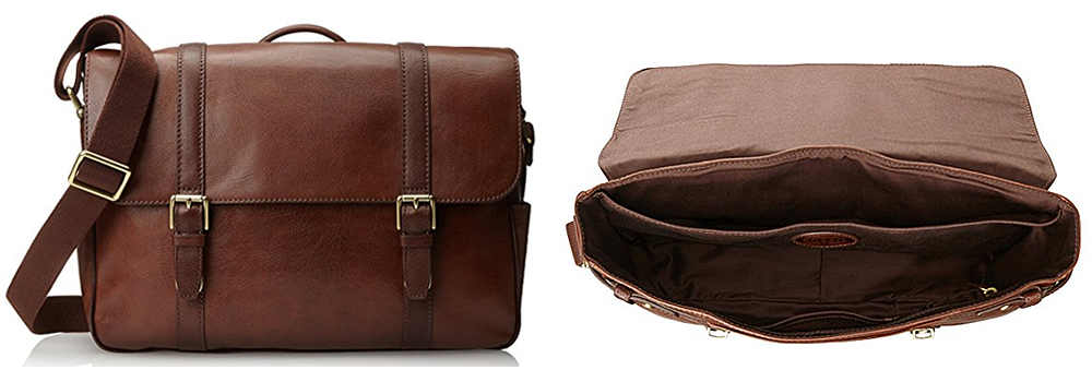 Fossil Estate Saffiano Brown Leather Briefcase Review