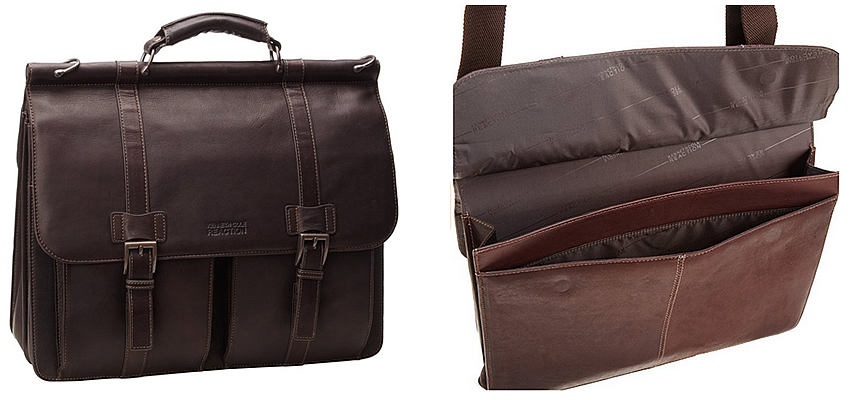 Kenneth Cole Mind Your Own Business Brown Leather Briefcase Review