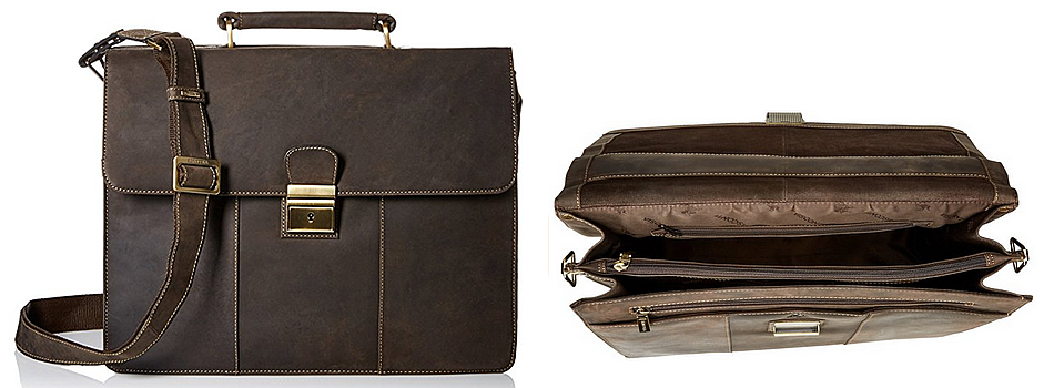 Visconti Apollo Brown Leather Briefcase Review