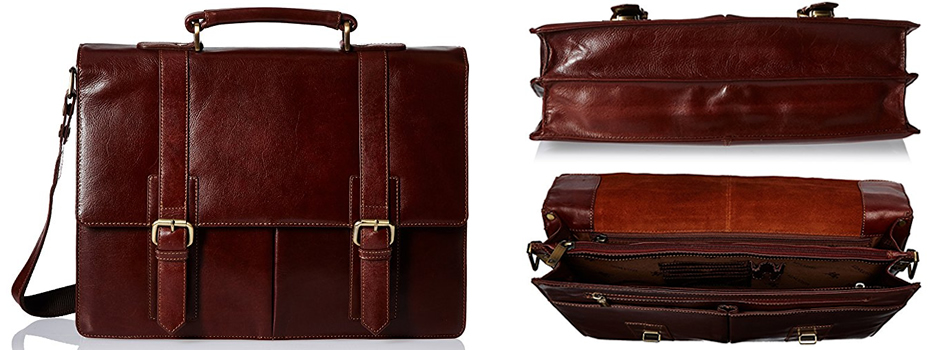 Visconti Vintage Brown Leather Briefcase Review